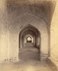Corridor on third storey [of the Raja Mahal], Chandragiri, North Arcot District